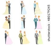 couples posing together on... | Shutterstock .eps vector #480179245