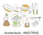 chinese food cool promo labels... | Shutterstock .eps vector #480179542
