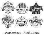 vintage labels | Shutterstock .eps vector #480183202