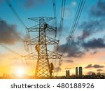 silhouette engineer repair and...   Shutterstock . vector #480188926