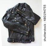 black leather jacket | Shutterstock . vector #480194755