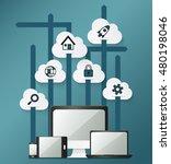 modern infographic for business ...   Shutterstock .eps vector #480198046