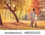 young couple in love holding... | Shutterstock . vector #480201352