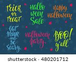 happy halloween party simple... | Shutterstock .eps vector #480201712