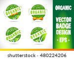 organic badge label seal stamp... | Shutterstock .eps vector #480224206