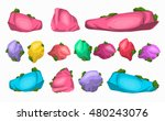 cartoon multicolored stones set....