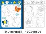 preschool worksheet for...   Shutterstock .eps vector #480248506