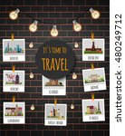 it's time to travel. tokyo  new ... | Shutterstock .eps vector #480249712
