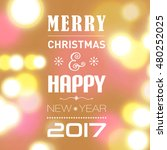 merry christmas post card... | Shutterstock . vector #480252025