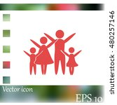 family vector icon | Shutterstock .eps vector #480257146
