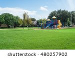 colorful children playground... | Shutterstock . vector #480257902