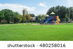 colorful children playground... | Shutterstock . vector #480258016
