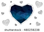dark blue heart isolated on...