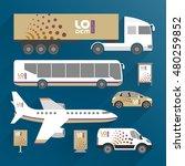 modern transport advertising... | Shutterstock .eps vector #480259852