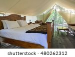 interior of a luxury camping... | Shutterstock . vector #480262312