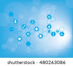 abstract medical background.... | Shutterstock .eps vector #480263086