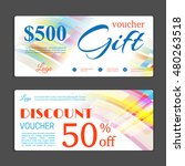 gift voucher template. can be... | Shutterstock .eps vector #480263518