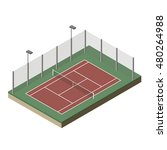 vector illustration. tennis... | Shutterstock .eps vector #480264988
