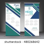 roll up banner stand template.... | Shutterstock .eps vector #480268642