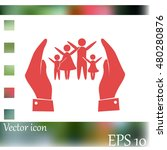 hand and family icon   Shutterstock .eps vector #480280876
