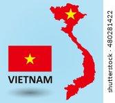 vietnam map flag | Shutterstock .eps vector #480281422