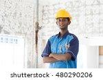 indian male plumber   Shutterstock . vector #480290206
