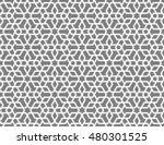 seamless islamic lattice... | Shutterstock .eps vector #480301525