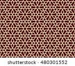 seamless islamic lattice... | Shutterstock .eps vector #480301552