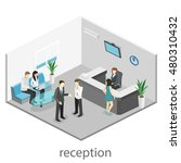 isometric interior of reception.... | Shutterstock .eps vector #480310432