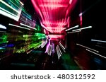 colorful glowing abstract... | Shutterstock . vector #480312592