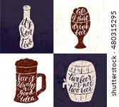 set of 4 hand lettering phrases ... | Shutterstock .eps vector #480315295