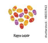 easter egg. heart shaped... | Shutterstock .eps vector #48031963