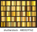 vector set of gold gradients... | Shutterstock .eps vector #480319762
