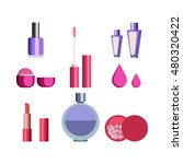 sets of cosmetics on isolated... | Shutterstock .eps vector #480320422