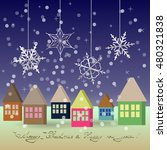 new year and christmas greeting ... | Shutterstock .eps vector #480321838