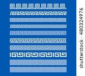 set of border decoration... | Shutterstock .eps vector #480324976