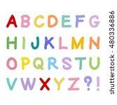 hand drawn alphabet  bold type  ... | Shutterstock .eps vector #480336886