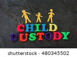 child custody letters and paper ... | Shutterstock . vector #480345502
