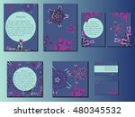 blue and pink star like... | Shutterstock .eps vector #480345532