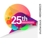25th anniversary logo  colorful ... | Shutterstock .eps vector #480348025