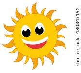 yellow sun burst icon isolated... | Shutterstock .eps vector #480349192