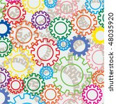 vector background of colorful... | Shutterstock .eps vector #48035920