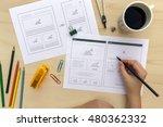 designer drawing website... | Shutterstock . vector #480362332