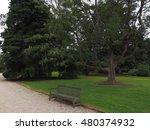 a bench sits between sandy...   Shutterstock . vector #480374932
