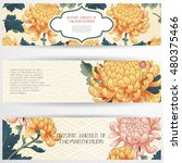 set of three horizontal banners.... | Shutterstock .eps vector #480375466
