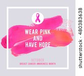 breast cancer awareness... | Shutterstock .eps vector #480383638
