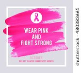 breast cancer awareness... | Shutterstock .eps vector #480383665