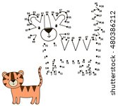 connect the dots to draw a cute ... | Shutterstock .eps vector #480386212