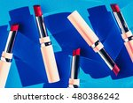 flat lay fashion with lipsticks ... | Shutterstock . vector #480386242