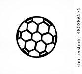 soccer ball icon  vector best... | Shutterstock .eps vector #480386575